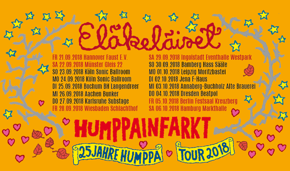 ELÄKELÄISET kommen mit ihrem Humppa Sound wieder nach Deutschland!