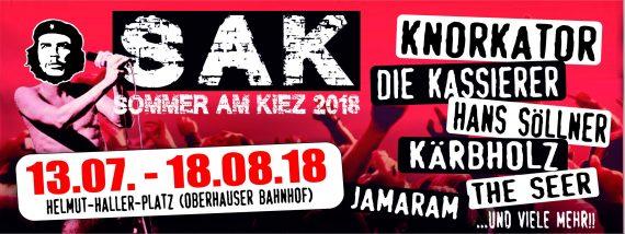 SOMMER AM KIEZ 2018 - vom 13.07. bis zum 18.08. in Augsburg