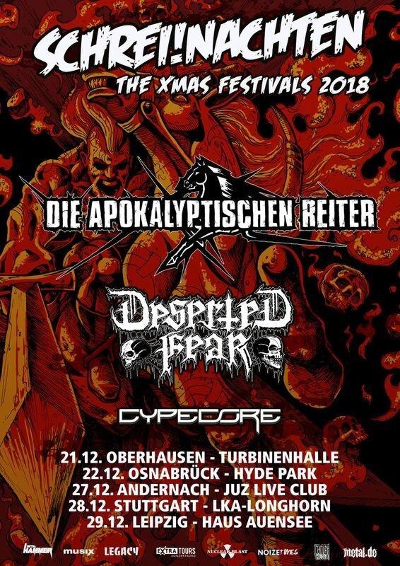 SCHREI!NACHTEN - The XMAS Festival 2018 mit DIE APOKALYPTISCHEN REITER, DESERTED FEAR und CYPECORE
