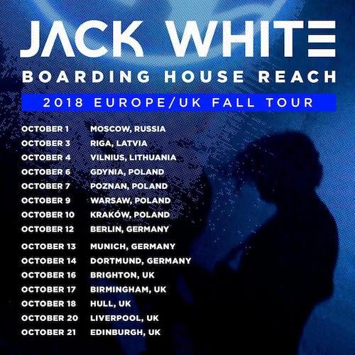 JACK WHITE kommt 2018 für drei Termine nach Deutschland