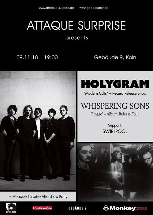 [Verlosung] Monkeypress.de präsentiert: HOLYGRAM & WHISPERING SONS in Köln