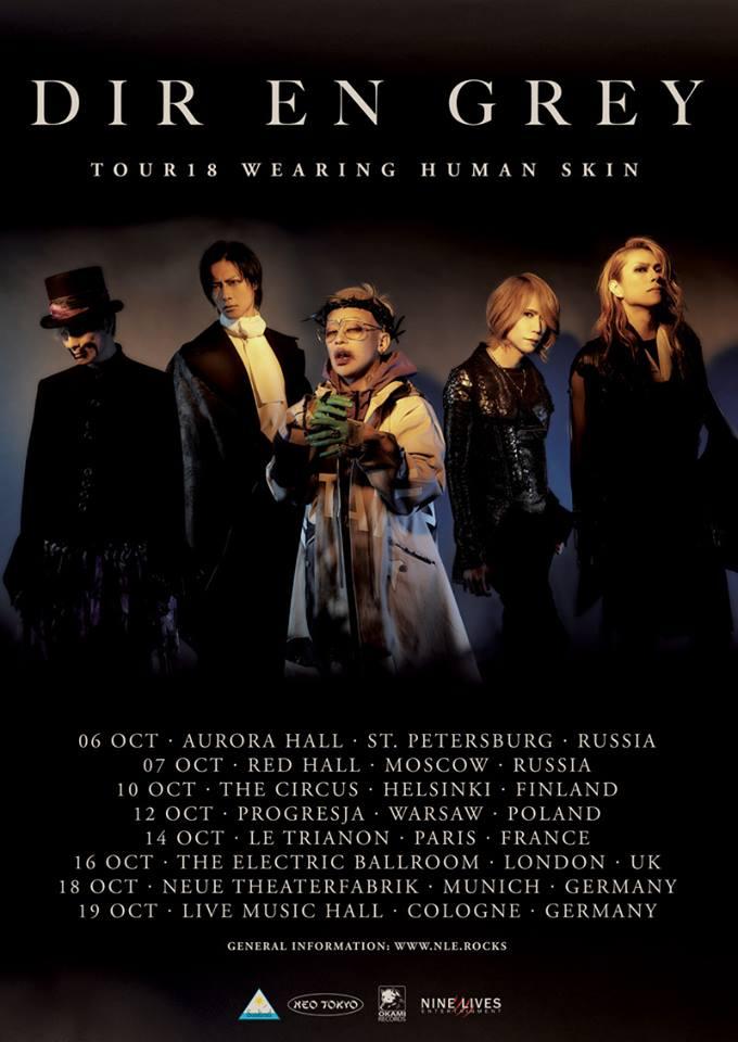 Wearing Human Skin: Dir En Grey im Oktober in München und Köln