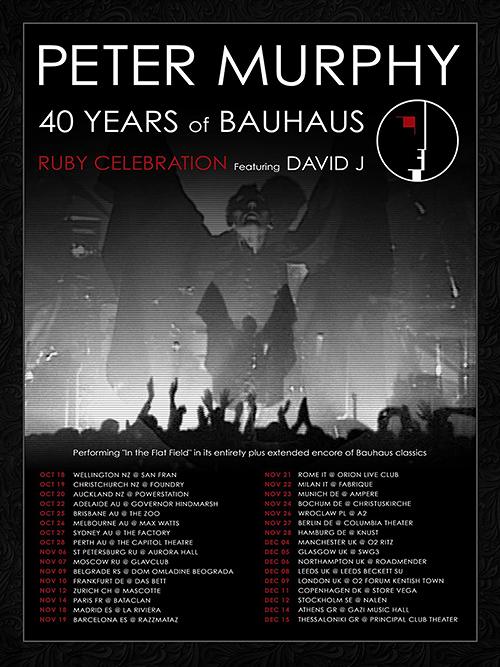 Peter Murphy und David J. huldigen ihr BAUHAUS noch viermal in Deutschland