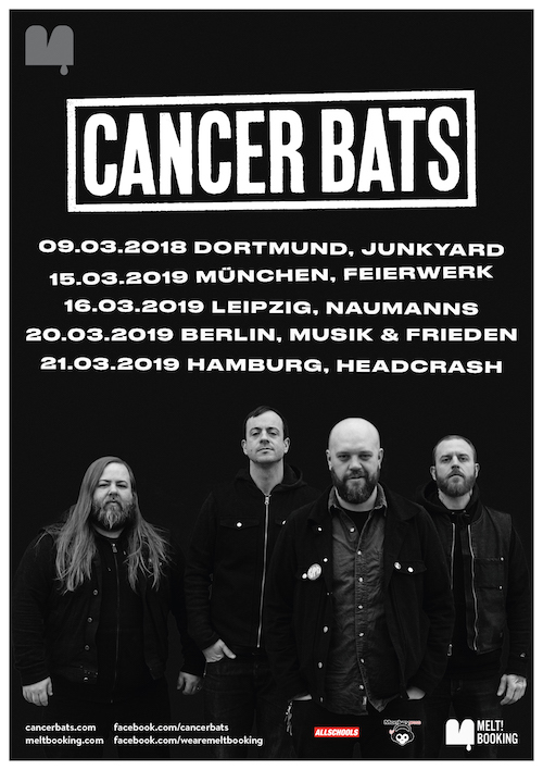 [Verlosung] Monkeypress.de präsentiert: CANCER BATS live 2019 (Gästeliste gewinnen!)