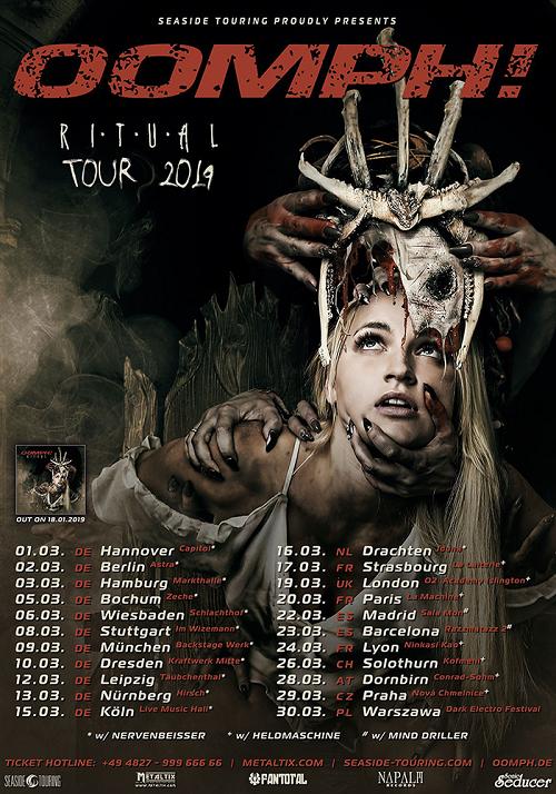 Ritual Tour 2019: OOMPH! stellen im März ihr neues Album vor!