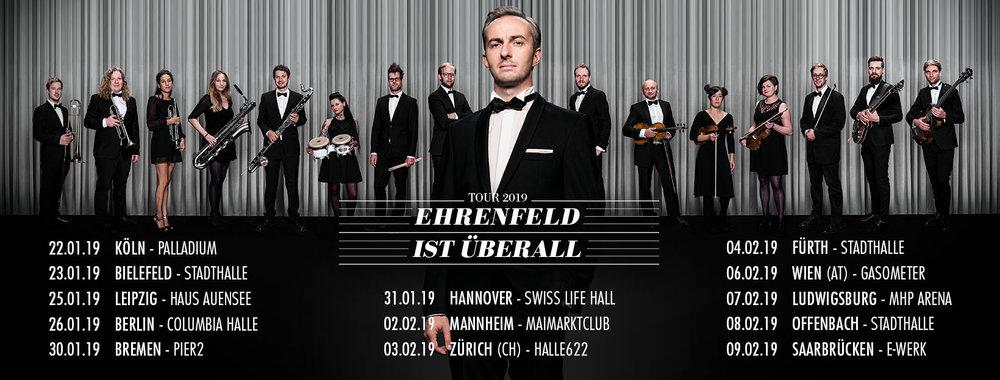 JAN BÖHMERMANN und DAS RUNDFUNK TANZORCHESTER EHRENFELD auf Tour