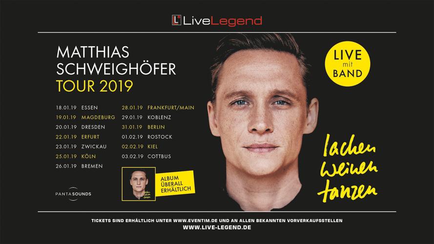 Anfang 2019 tanzt, lacht und weint MATTHIAS SCHWEIGHÖFER wieder in deutschen Konzertsälen