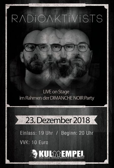 Vorweihnachtsfreude: RADIOAKTIVISTS präsentieren ihr Debütalbum im Kulttempel Oberhausen