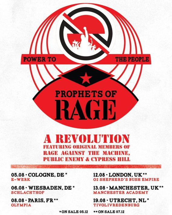 PROPHETS OF RAGE im August 2019 in Köln & Wiesbaden