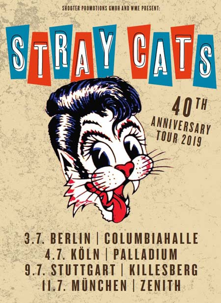 STRAY CATS zum 40. Jubiläum wieder live in Deutschland