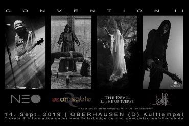 Post Goth at its best - SOLAR LODGE CONVENTION geht in die zweite Runde