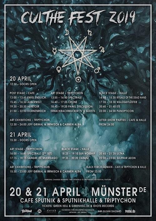 CULTHE FEST: Unaussprechlicher Countdown - Running Order und letzter Tickets