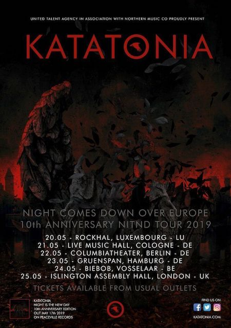 Die Nacht kommt über Europa: KATATONIA Jubiläumstour im Mai