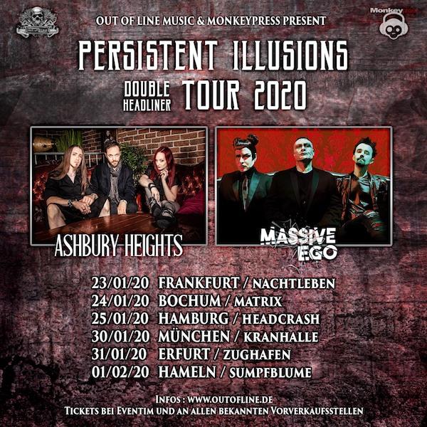 [Verlosung beendet] Monkeypress.de präsentiert: ASHBURY HEIGHTS und MASSIVE EGO – Persistent Illusions Double Headliner Tour 2020