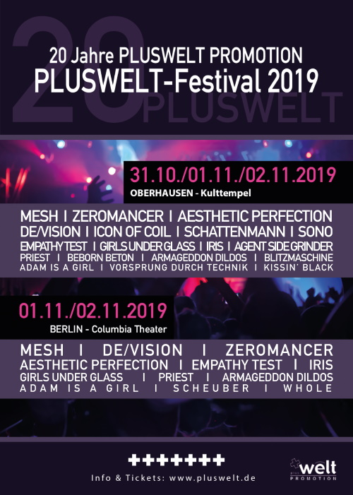 [beendet] Verlosung: Die PLUSWELT-Festivals 2019 in Oberhausen und Berlin