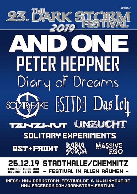 Das DARK STORM FESTIVAL läd 2019 zum 23. Mal nach Chemnitz