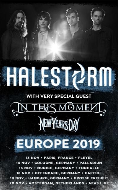 HALESTORM mit IN THIS MOMENT und NEW YEARS DAY gemeinsam auf Europatour 2019