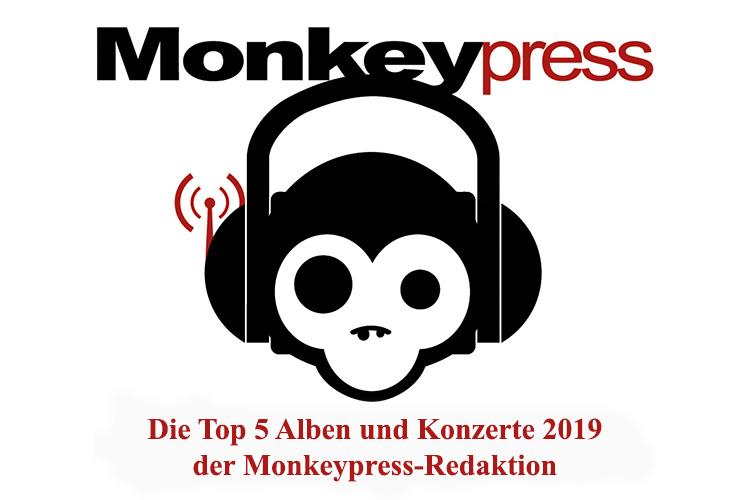 Die persönlichen Top 5 Alben & Konzerte 2019 des Monkeypress.de-Teams