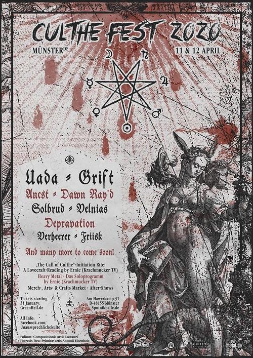 CULTHE FEST 2020 - Unaussprechlich, undergroundig, zum siebtem Mal, zu Ostern in Münster