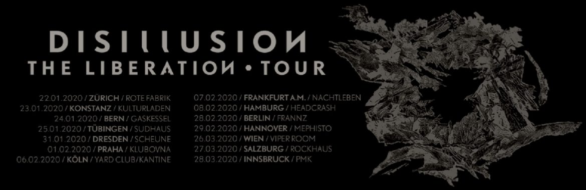 Whenever I close my eyes - DISILLUSION auf The Liberation-Tour durch Europa