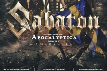 "SABATON auf ""The Great Tour"" durch Europa mit Special Guests APOCALYPTICA & AMARANTHE"