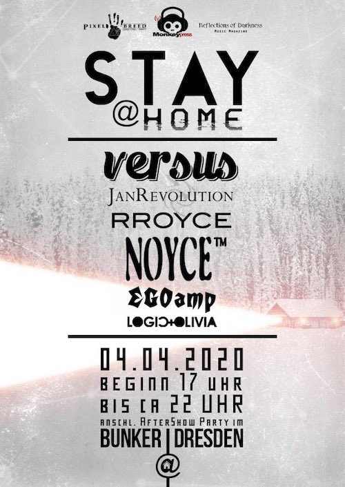 Monkeypress.de präsentiert: Die Running Order zum STAY AT HOME ONLINE FESTIVAL 2020