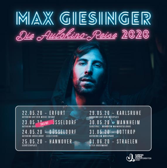 MAX GIESINGER - die Autokino Reise 2020