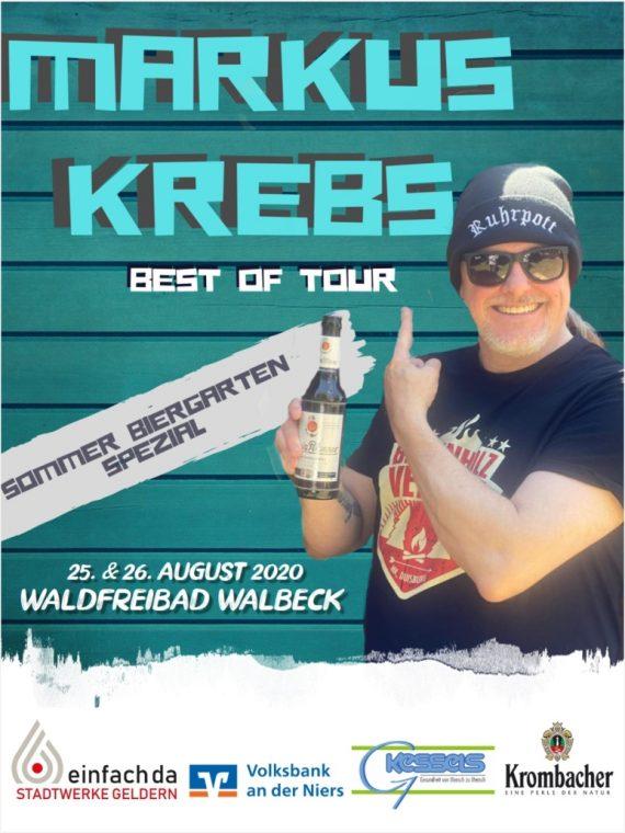 """Markus Krebs """"Best of... Sommer Biergarten Special 2020"""" im Walbecker Freibad"""