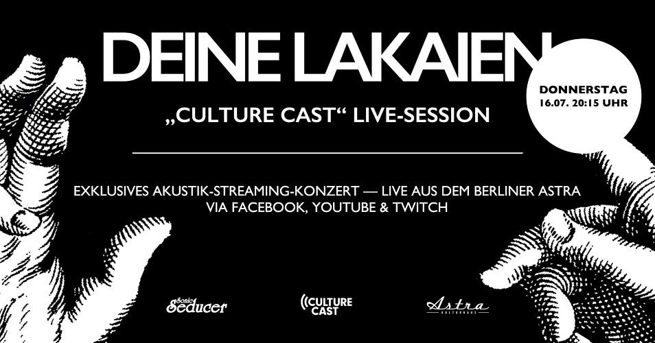 DEINE LAKAIEN streamen live und akustisch am 16. Juli aus dem Berliner Astra