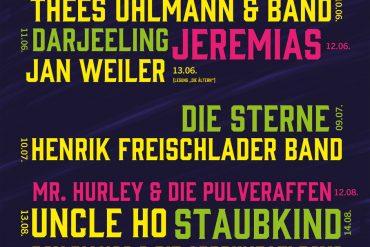 UNCLE HO, STAUBKIND, THEES UHLMANN: Konzertfrühling auf der Waldbühne Hardt in Wuppertal startet am 10. Juni