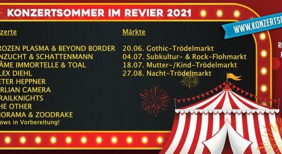 KONZERTSOMMER IM REVIER 2021 - Alles zum Line-up