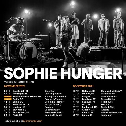 SOPHIE HUNGER: ab November auf Tour